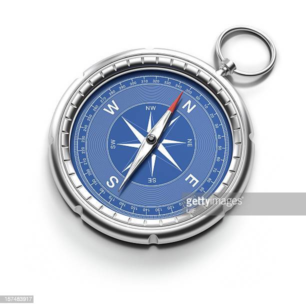 Compass pointing to North with clipping path