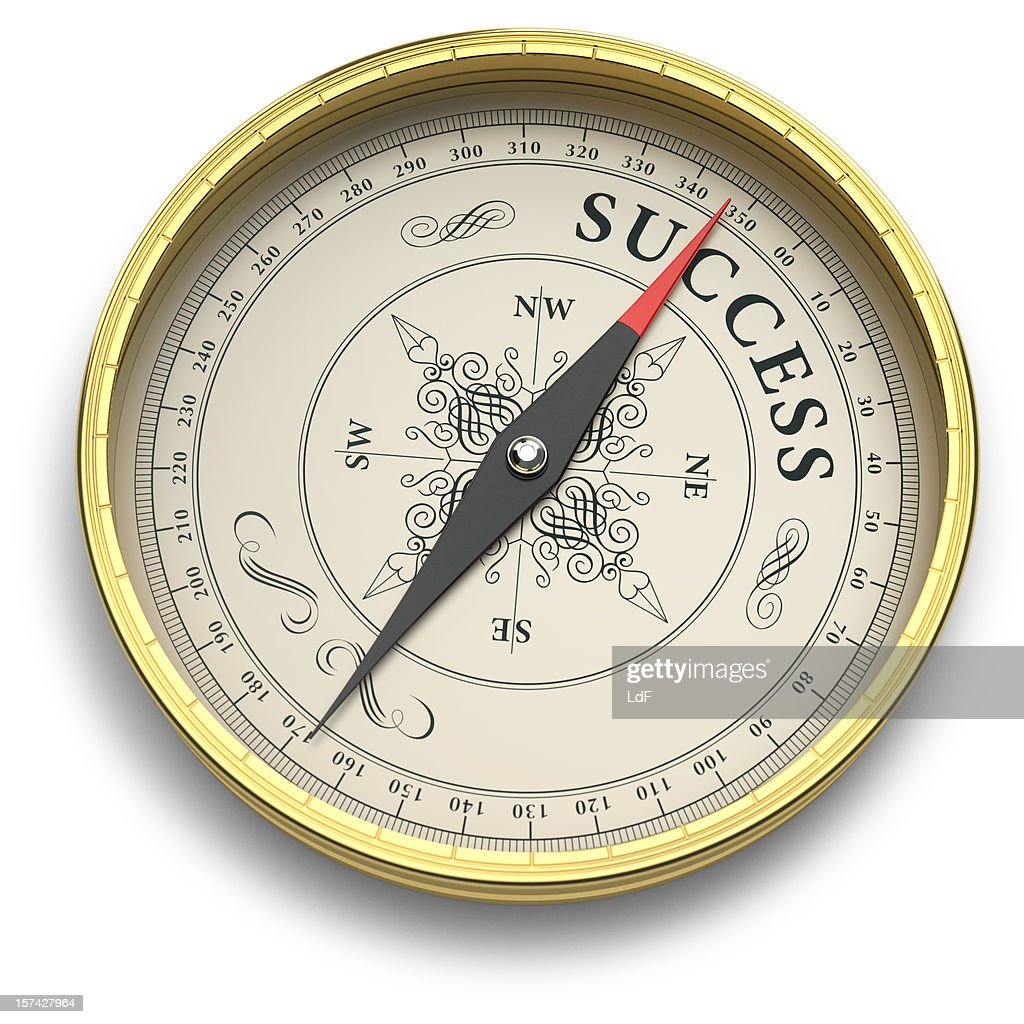 Compass Pointing to Success : Stock Photo