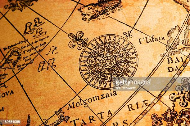 Compass rose map