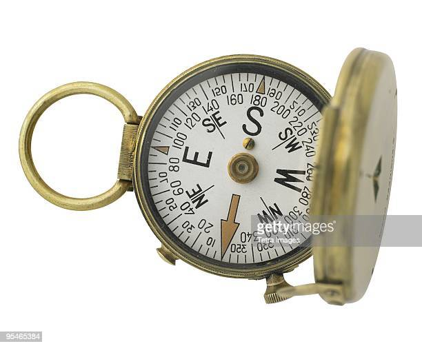 A compass with a cover