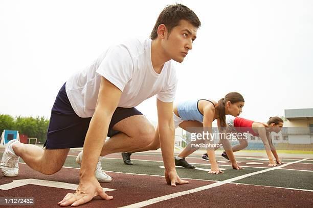Wettbewerb der Läufer