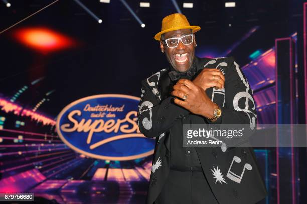 Competition winner 'Superstar 2017' Alphonso Williams poses during the finals of the tv competition 'Deutschland sucht den Superstar' at Coloneum on...