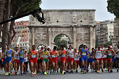 Competitiors in action during the 50KM Race Walk at IAAF Race Walking Team Campionship Rome 2016 on May 7 2016 in Rome Italy