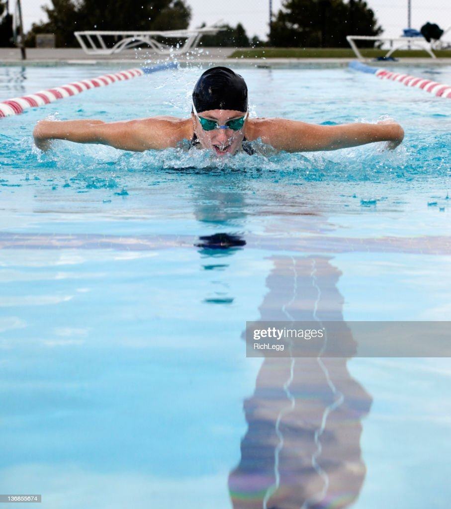 Competitive Swimmer : Stock Photo