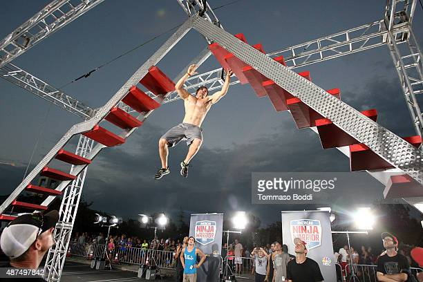 Competitor Ben Melick attends the NBC's 'American Ninja Warrior' season 7 finale preview screening held at The Autry National Center on September 9...