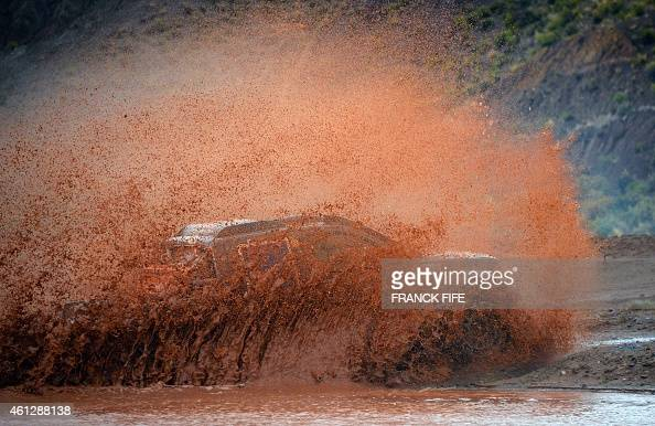A competitor during the Stage 7 of the Dakar 2015 between Iquique in Chile and Uyuni Bolivia on January 10 2015 AFP PHOTO / FRANCK FIFE