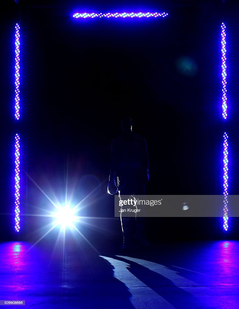 A competitor makes his way to the ring during day three of the Boxing Elite National Championships at Echo Arena on May 01, 2016 in Liverpool, England.