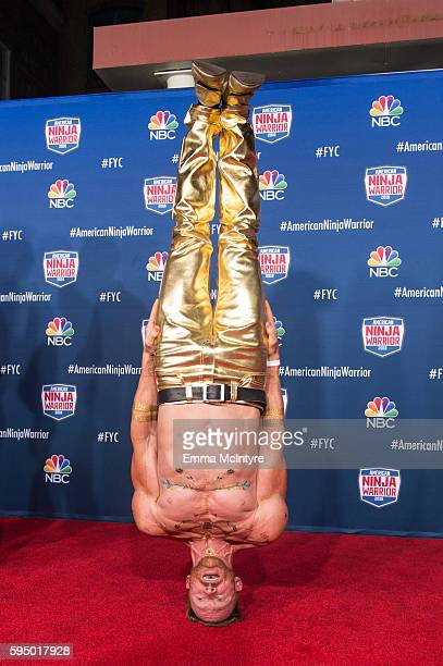Competitor Neil Craver attends the screening event of NBC's 'American Ninja Warrior' in celebration of the show's first Emmy Award nomination at...