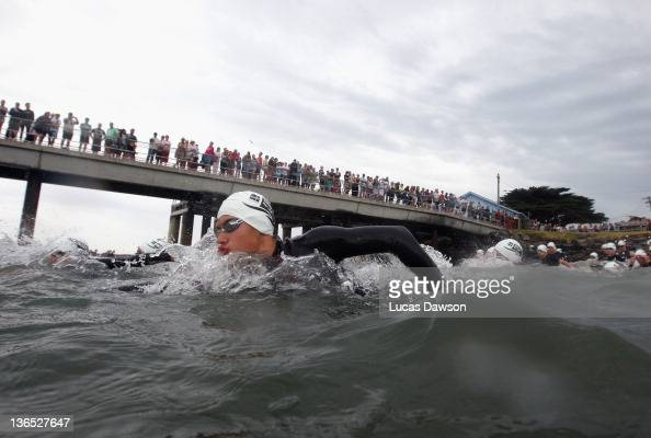 Competitor start the race during the 2012 Pier to Pub on January 7 2012 in Lorne Australia