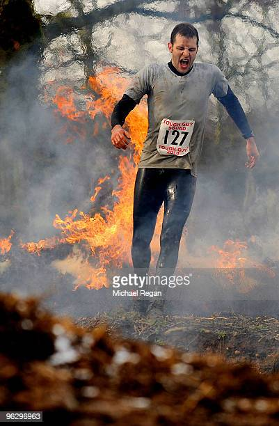 A competitor takes part in the Tough Guy 2010 race on January 31 2010 in Telford England