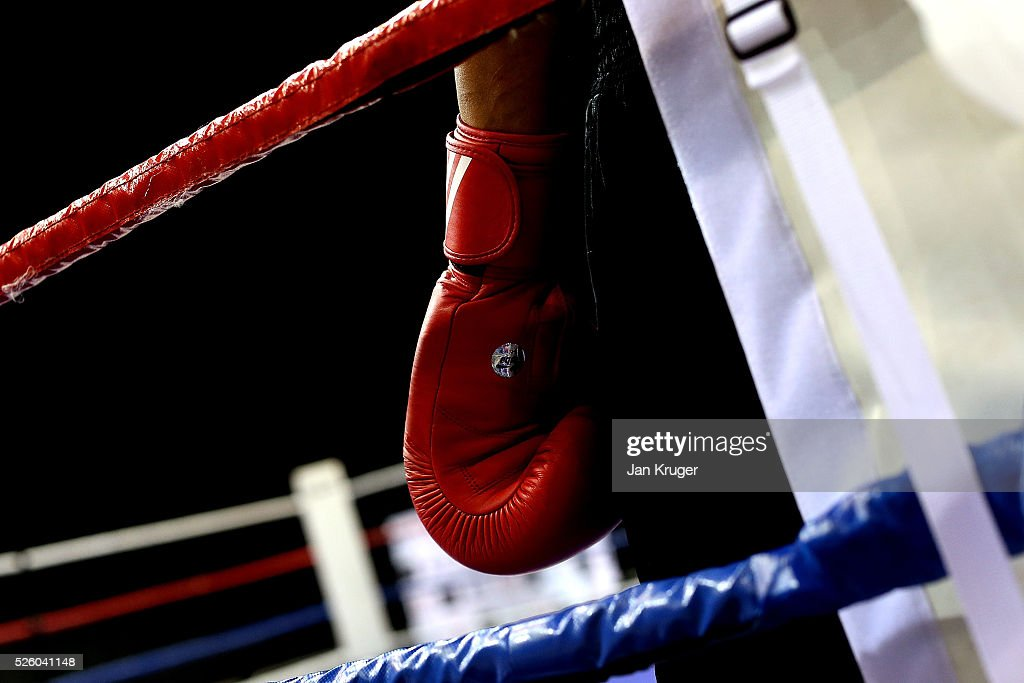 A competitor waits for the bell during day one of the Boxing Elite National Championships at Echo Arena on April 29, 2016 in Liverpool, England.