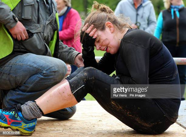 A competitor who was injured taking part in the Race Race Dirty weekend at Burghley House Stamford