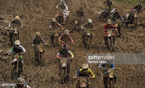 Competitors in action during the International German Motocross Championships on September 18 2016 in Holzgerlingen Germany