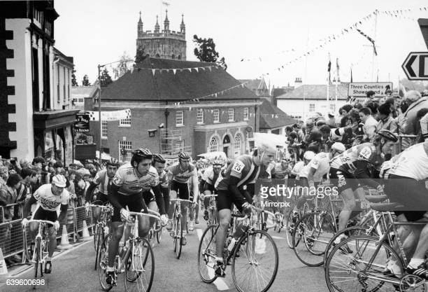 Competitors in the 1987 Milk Race now better known as the Tour of Britain a cycling road race staged every summer and covering the UK Picture shows...