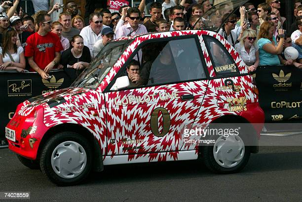 Competitors in their cars at the Gumball 3000 race 2007 launch on April 29 2007 in London England The Rally starts on London's Pall Mall and...