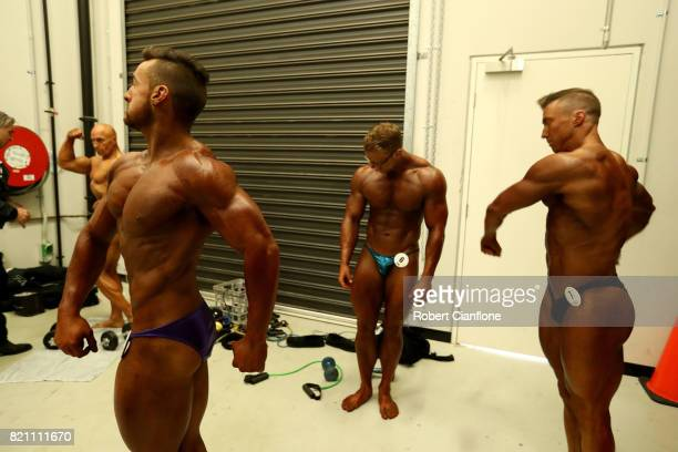 Competitors prepare backstage during the 2017 Bendigo Country Classic on July 23 2017 in Bendigo Australia