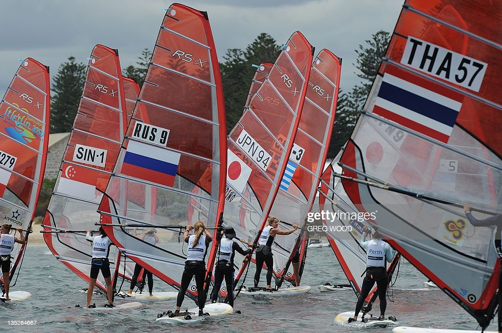 Competitors prepare for a start during the first Silver Fleet race in the