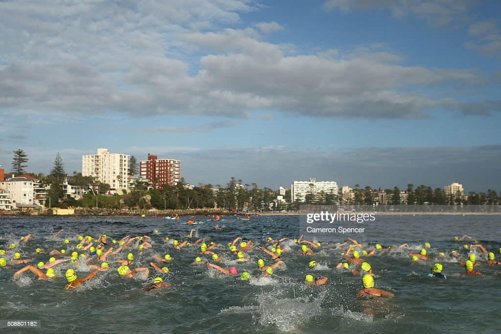 Competitors race in the Cole Classic Ocean Swim from Shelly Beach to Manly Beach on February 7, 2016 in Sydney, Australia.