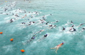 Competitors start the race during the 2012 Pier to Pub on January 7 2012 in Lorne Australia