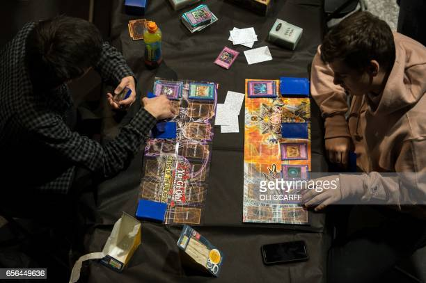 Competitors take part in the 'King of the North' gaming festival held at the Manchester Academy venue in Manchester northern England on March 22 2017...