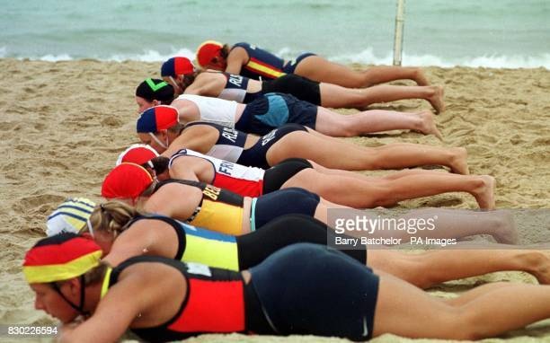 Competitors take to the sand in Bournemouth Dorset for the inaugural European Life Saving Championships as more than 100 of the bravest and best...