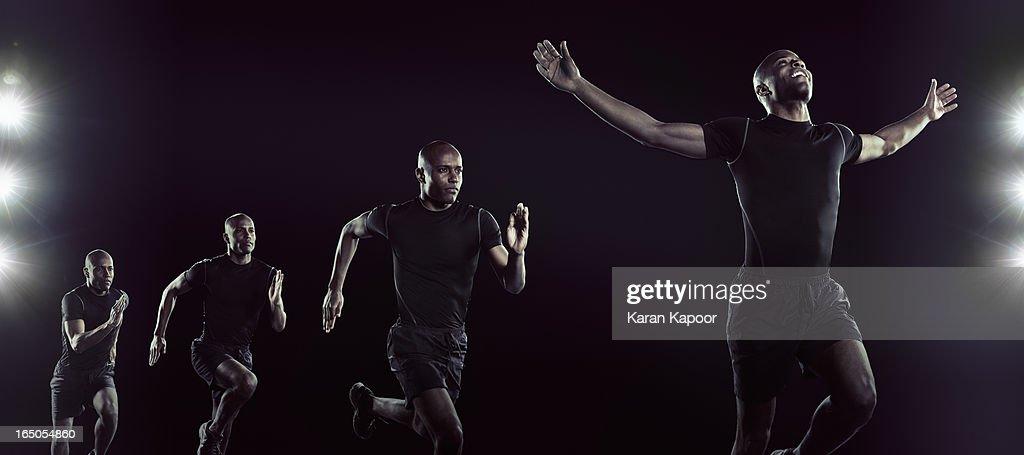 Compilation of shots of  Athelete Running : Stock Photo