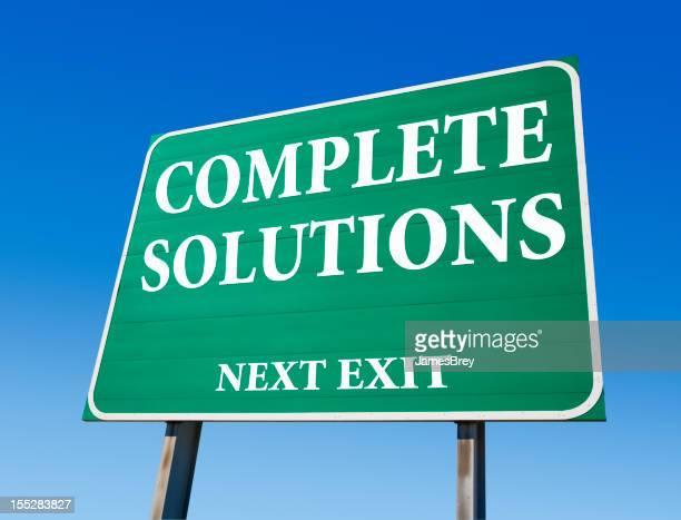 Completar as soluções Sinal de Estrada