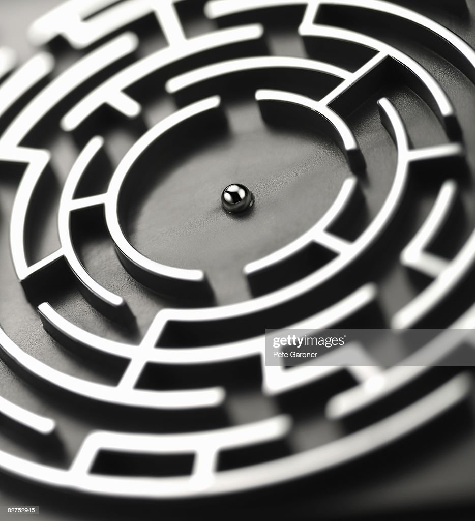 completed the maze : Stock Photo