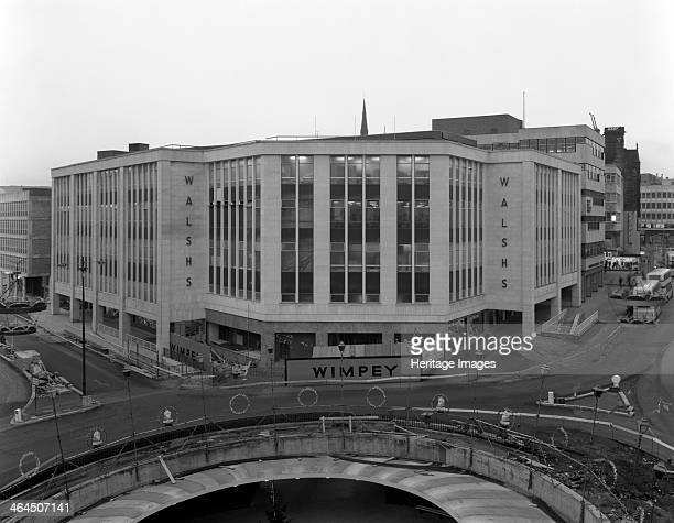 Completed Walsh's department store redevelopment Sheffield South Yorkshire 1967 The front of the store was demolished and rebuilt to accommodate the...