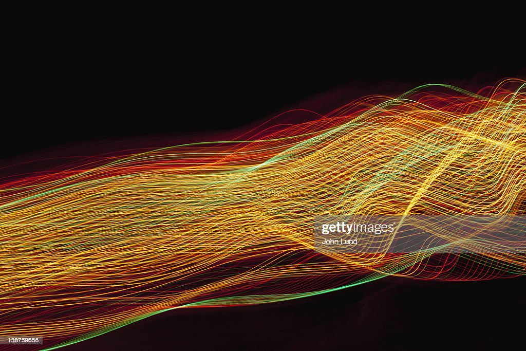 Complex Abstract Light Pattern : Stock Photo