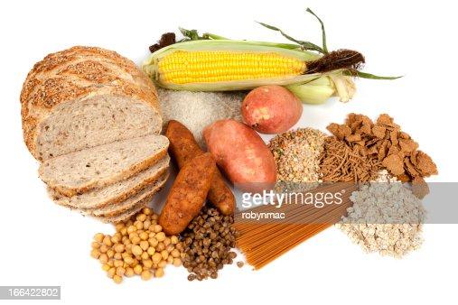 Complejo de carbohidratos fuentes de alimentación : Foto de stock