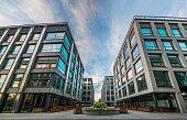 Szczecin, Poland-September 2017: Complex of modern office buildings