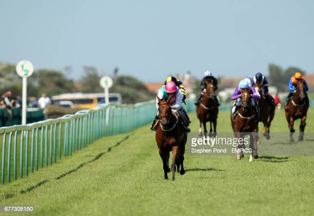 Complexion ridden by jockey Ryan Moore wins the Stanley Threadwell Memorial Fillies' Handicap Stakes on day two of the July Meeting at Great Yarmouth...