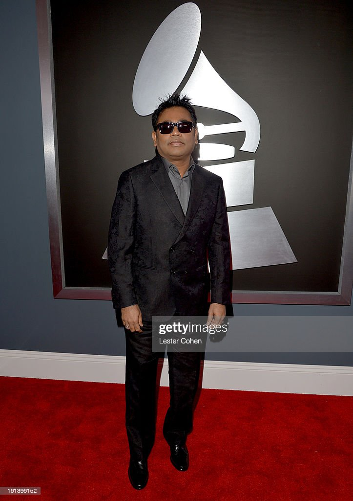 Composer A. R. Rahman attends the 55th Annual GRAMMY Awards at STAPLES Center on February 10, 2013 in Los Angeles, California.