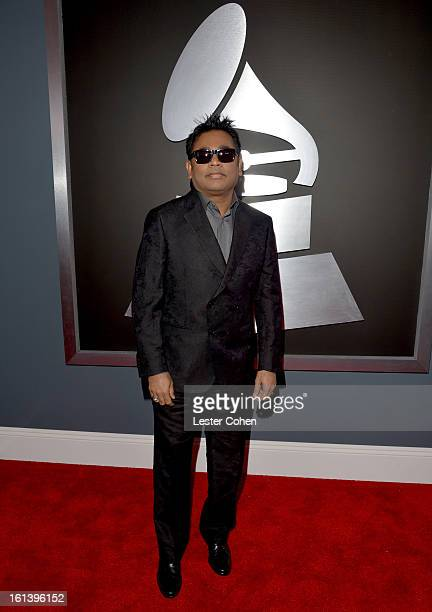 Composer A R Rahman attends the 55th Annual GRAMMY Awards at STAPLES Center on February 10 2013 in Los Angeles California