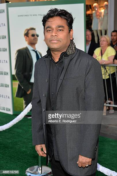 Composer A R Rahman attends the premiere of Disney's 'Million Dollar Arm' at the El Capitan Theatre on May 6 2014 in Hollywood California