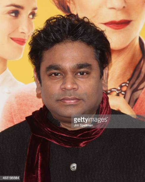 Composer A R Rahman attends the 'The HundredFoot Journey' New York Premiere at Ziegfeld Theater on August 4 2014 in New York City