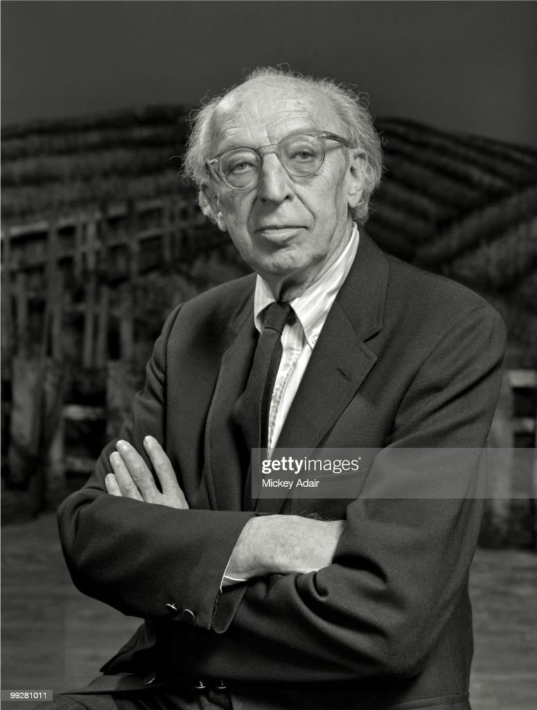 Composer <a gi-track='captionPersonalityLinkClicked' href=/galleries/search?phrase=Aaron+Copland&family=editorial&specificpeople=571902 ng-click='$event.stopPropagation()'>Aaron Copland</a> poses on the set of his opera 'The Tenderland' at Ruby Diamond Auditorium on the campus of Florida State University in May 1979 in Tallahassee, Florida.