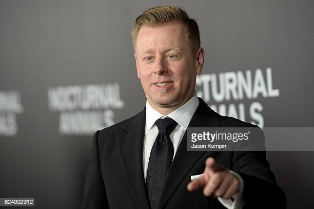 Composer Abel Korzeniowski attends the New York Premiere of Tom Ford's 'Nocturnal Animals' at The Paris Theatre on November 17 2016 in New York City