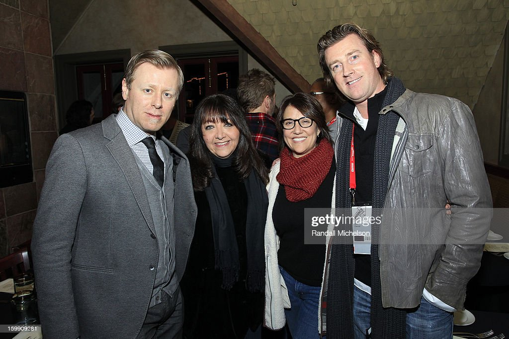 Composer <a gi-track='captionPersonalityLinkClicked' href=/galleries/search?phrase=Abel+Korzeniowski&family=editorial&specificpeople=6491638 ng-click='$event.stopPropagation()'>Abel Korzeniowski</a>, BMI Executive Doreen Ringer-Ross, agent Christine Russell and composer Kim Carroll attend the BMI Sundance Dinner at Zoom Restaurant on January 22, 2013 in Park City, Utah.