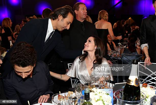 Composer Alexandre Desplat and actress Angelina Jolie attend the 20th annual Critics' Choice Movie Awards at the Hollywood Palladium on January 15...
