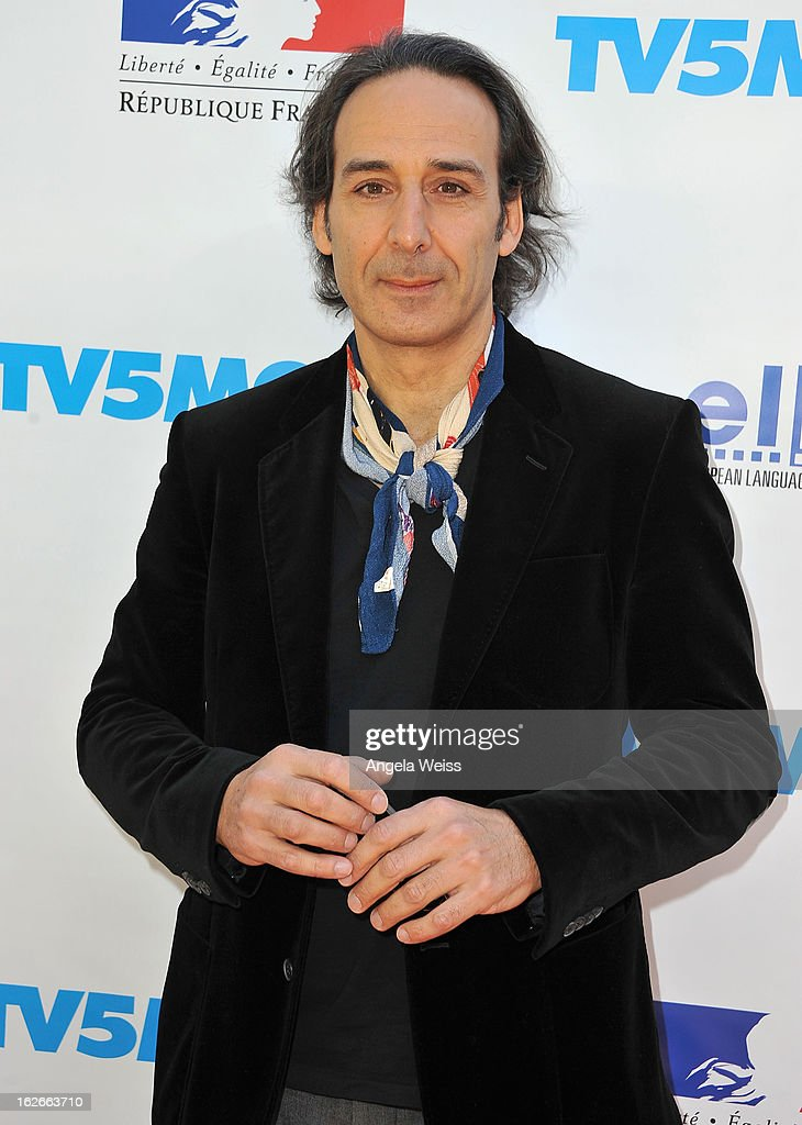 Composer <a gi-track='captionPersonalityLinkClicked' href=/galleries/search?phrase=Alexandre+Desplat&family=editorial&specificpeople=4162223 ng-click='$event.stopPropagation()'>Alexandre Desplat</a> attends an event hosted by the Consul General Of France, Mr. Axel Cruau, honoring the French nominees for the 85th Annual Academy Awards at the French Consulate's home on February 25, 2013 in Beverly Hills, California.