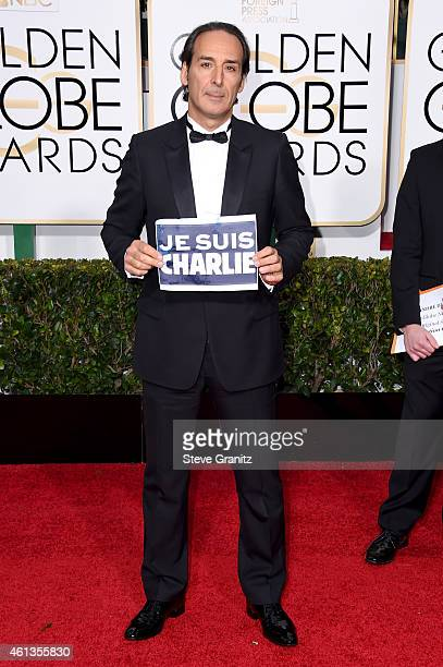 Composer Alexandre Desplat attends the 72nd Annual Golden Globe Awards at The Beverly Hilton Hotel on January 11 2015 in Beverly Hills California