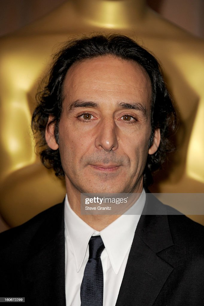 Composer <a gi-track='captionPersonalityLinkClicked' href=/galleries/search?phrase=Alexandre+Desplat&family=editorial&specificpeople=4162223 ng-click='$event.stopPropagation()'>Alexandre Desplat</a> attends the 85th Academy Awards Nominees Luncheon at The Beverly Hilton Hotel on February 4, 2013 in Beverly Hills, California.