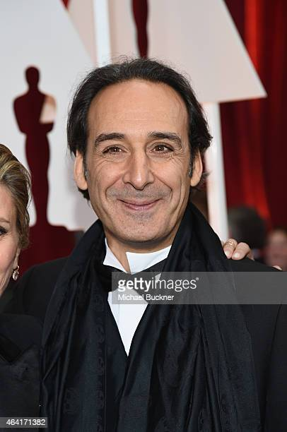 Composer Alexandre Desplat attends the 87th Annual Academy Awards at Hollywood Highland Center on February 22 2015 in Hollywood California