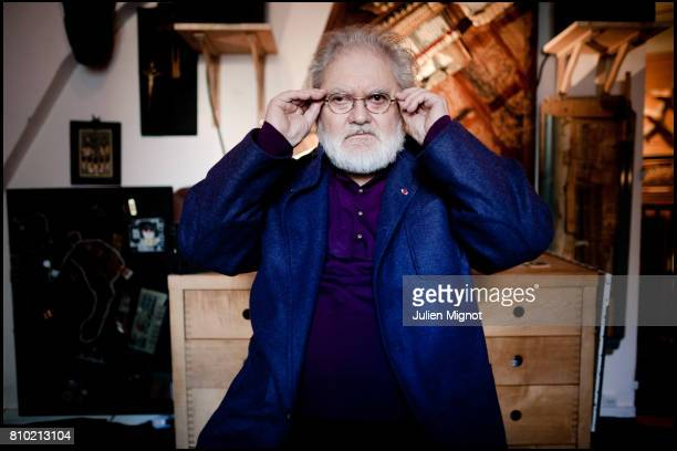 Composer and a pioneer in the musique concrète genre of electronic music Pierre Henry is photographed at his home for Le Monde on October 13 2010 in...