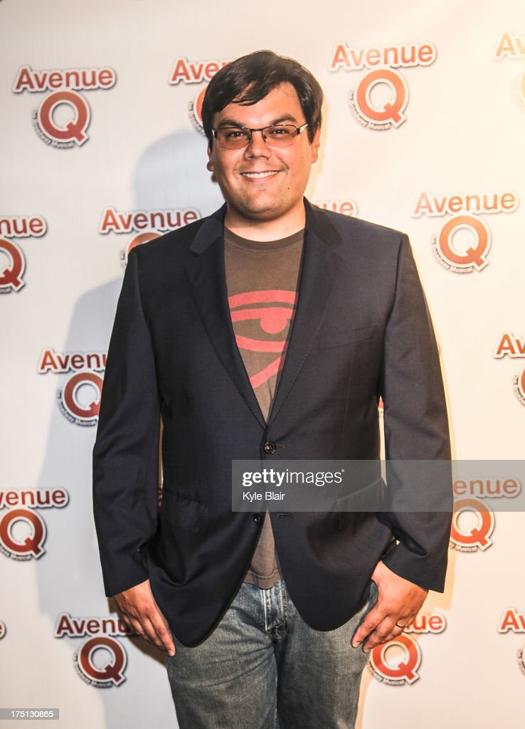 Composer and lyricist Robert Lopez attends the 'Avenue Q' 10th year anniversary performance at New World Stages on July 31, 2013 in New York City.