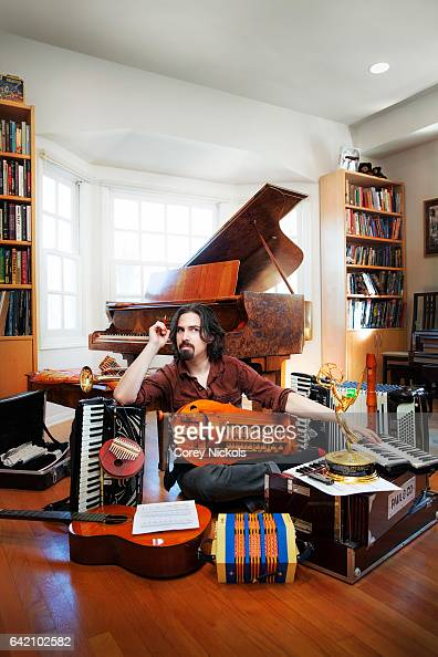Composer and musician Bear McCreary for Emmy Magazine on December 20 2013 in Culver City California