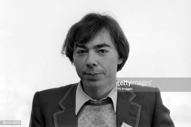 Composer Andrew Lloyd Webber after he won the Drama Awards of the Year 1981 award for the Best New Musical Lloyd Webber won it for Cats based on the...