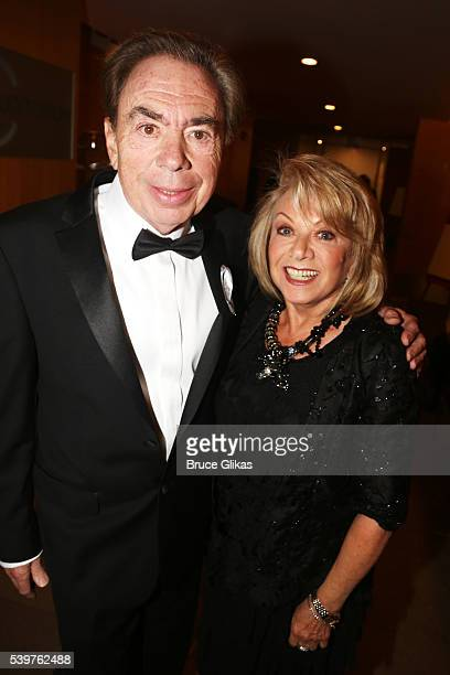 Composer Andrew Lloyd Webber and Elaine Paige attends 70th Annual Tony Awards Press Room at Beacon Theatre on June 12 2016 in New York City